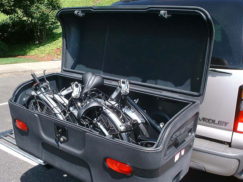 StowAway rear cargo box offers safe easy access while camping