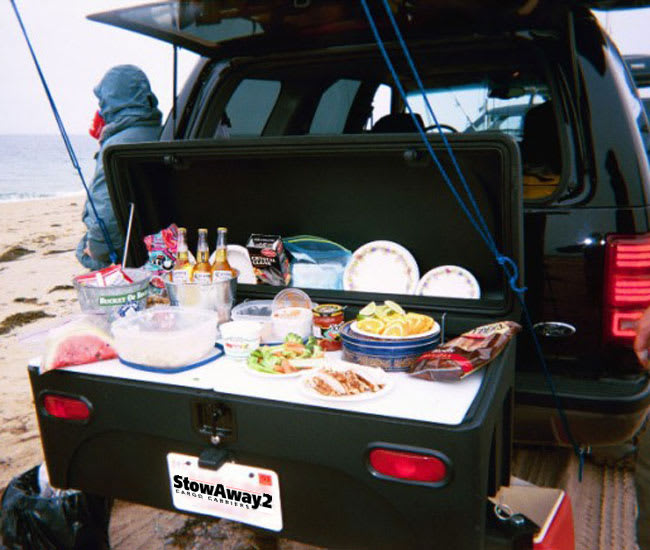 Food counter on top of StowAway Cargo Box