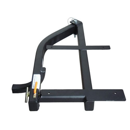 Hitch rack with swingaway frame