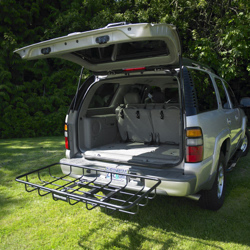 StowAway Cargo Rack with liftgate open