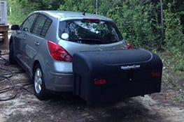 Stowaway cargo carrier on Nissan Versa