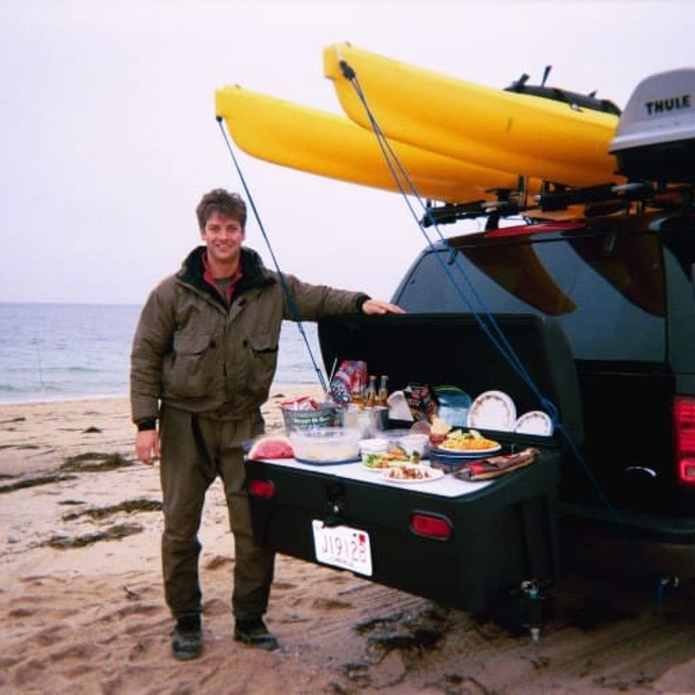 Ford Expedition with StowAway Hitch Cargo Carrier for Beach Picnic
