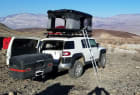 Toyota FJ Cruiser with StowAway Max Hitch Mount Cargo Carrier Camping
