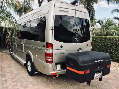 Pleasure Way Sprinter Van with StowAway Max Cargo Box with Wheels