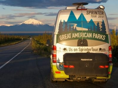 Great American Parks Sprinter Tour Van with StowAway Max Cargo Box