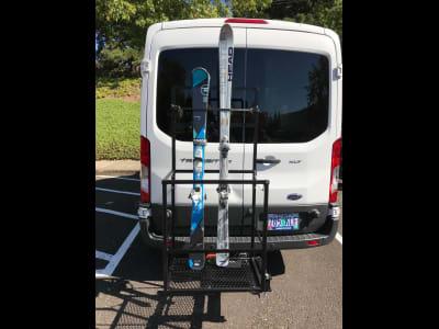 Ford Transit Van with StowAway Ski Rack