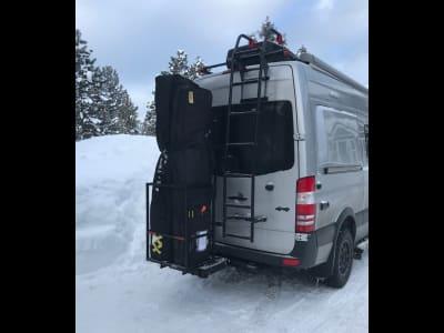 Sprinter Van with StowAway Ski Rack in Nevada