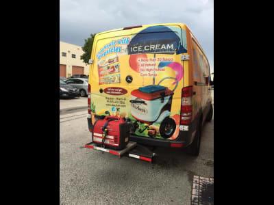 Sprinter Ice Cream Van with StowAway Hitch Frame