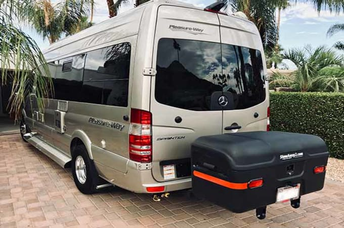 StowAway MAX Cargo Carrier on sprinter van