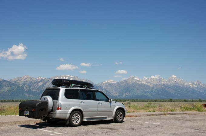 Suzuki with Standard Cargo Carrier in the Grand Tetons