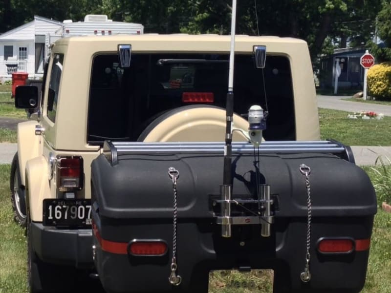 Jeep Wrangler with StowAway Max Cargo Box with Add-ons