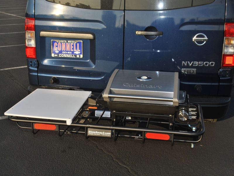 Nissan Anaheim with Rear Hitch Grill Tailgating Station