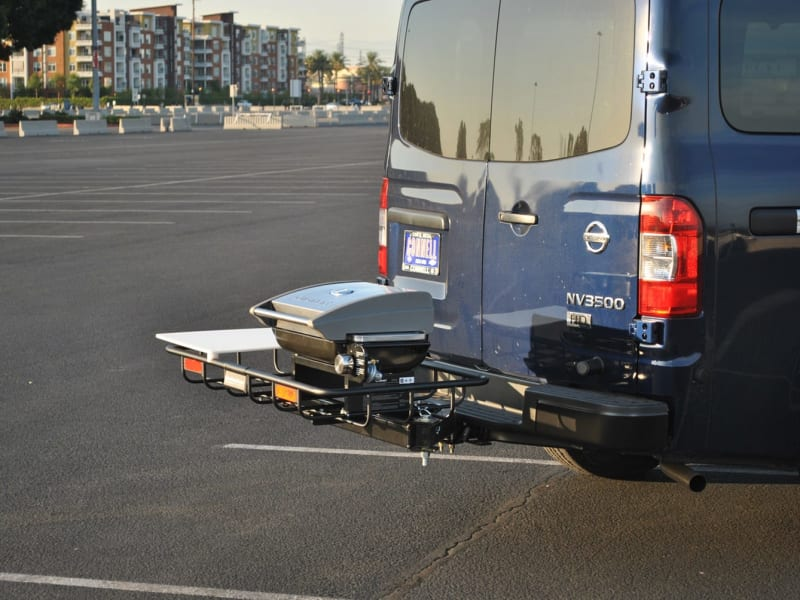 Nissan Anaheim from Right with Rear Hitch Grill Tailgating Station