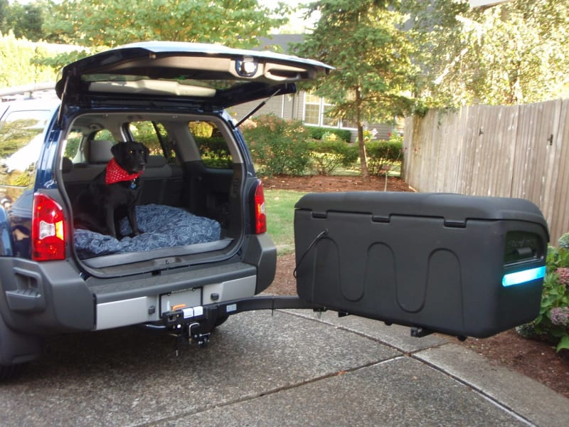 SUV with with StowAway Max Hitch Cargo Box
