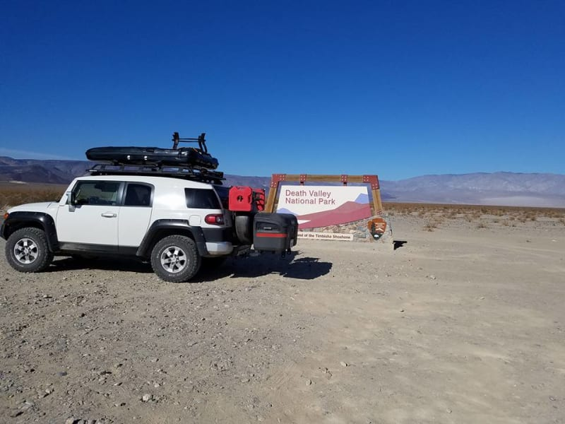 Toyota FJ Cruiser with StowAway Max Box in Death Valley