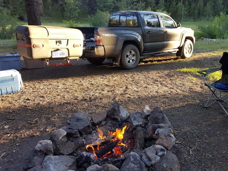 Toyota Pick-up StowAway Max Hitch Cargo Box Camping