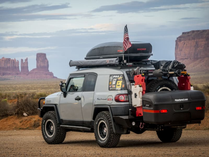 Toyota FJ Cruiser with StowAway Max Hitch Mount Cargo Carrier