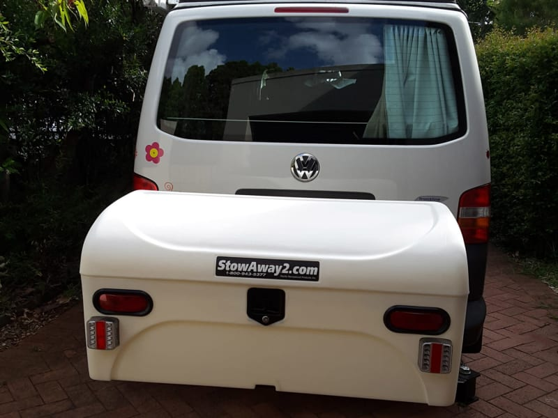 VW Eurovan with White StowAway Standard Cargo Box