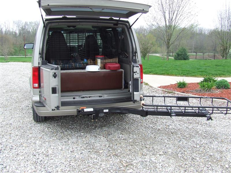GMC Van with StowAway Cargo Rack