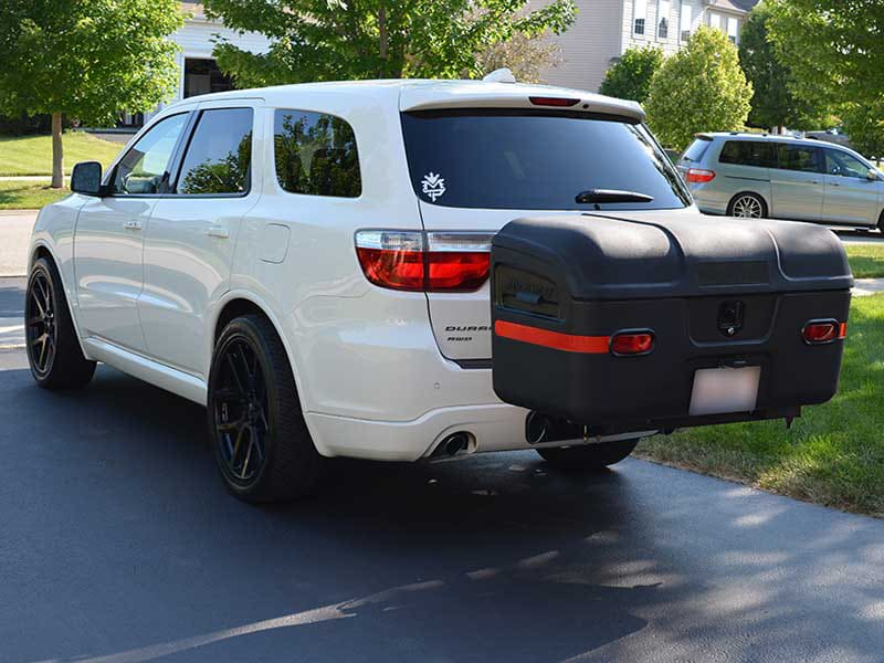 Dodge Durango with StowAway MAX Hitch Mount Cargo Carrier