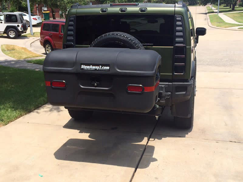 Hummer H2 with StowAway MAX Cargo Carrier