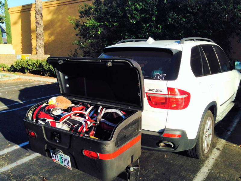 BMW X5 SAV StowAway Max Cargo Box on Golf Trip