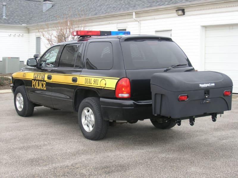 StowAway Standard Cargo Box on Dodge Police Vehicle