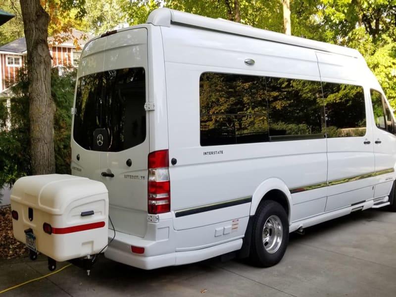 Airstream Interstate Conversion Van with StowAway Max Cargo Box White