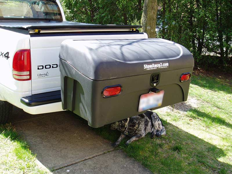 Dodge Dakota with StowAway Standard Hitch Mount Cargo Carrier