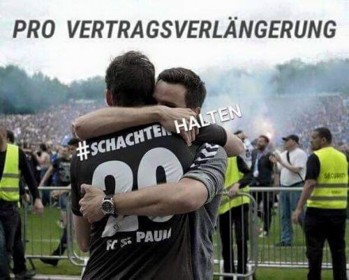 #schachtenhalten - Meme auf Feacebook für Sebastian Schachten. Foto: ebenda