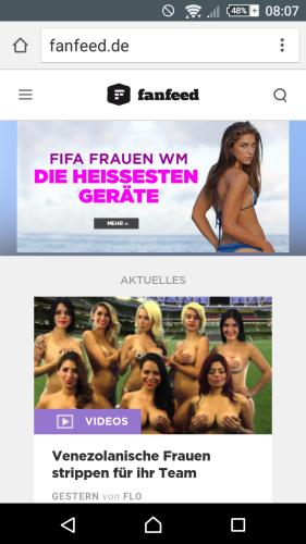 """Fanfeed """"Die heissesten Spielerinnen der WM"""" sexistische Kackscheisse"""