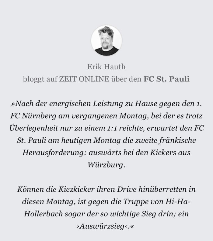Erik Hauth Kommentar FCSP Elbvertiefung