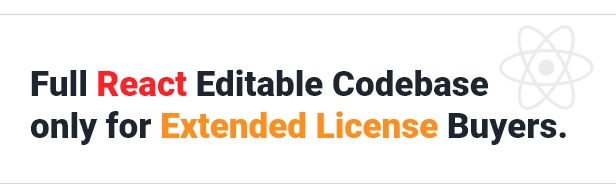 Full Codebase for extended-license buyers