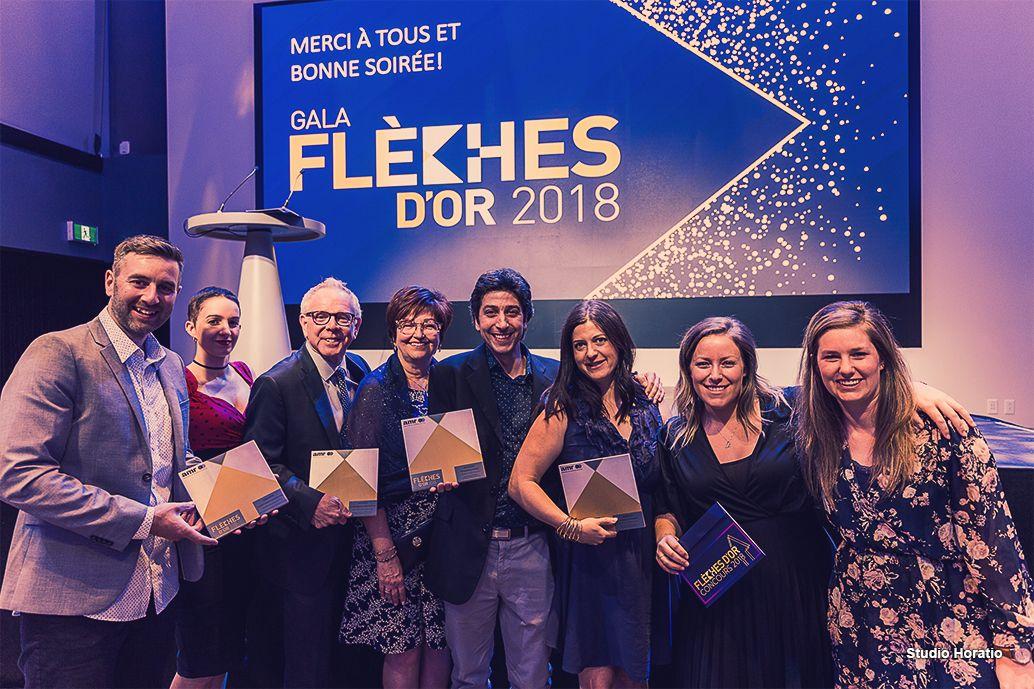 Stratégies remporte 4 prix au gala Flèches d'or 2018 de l'AMR