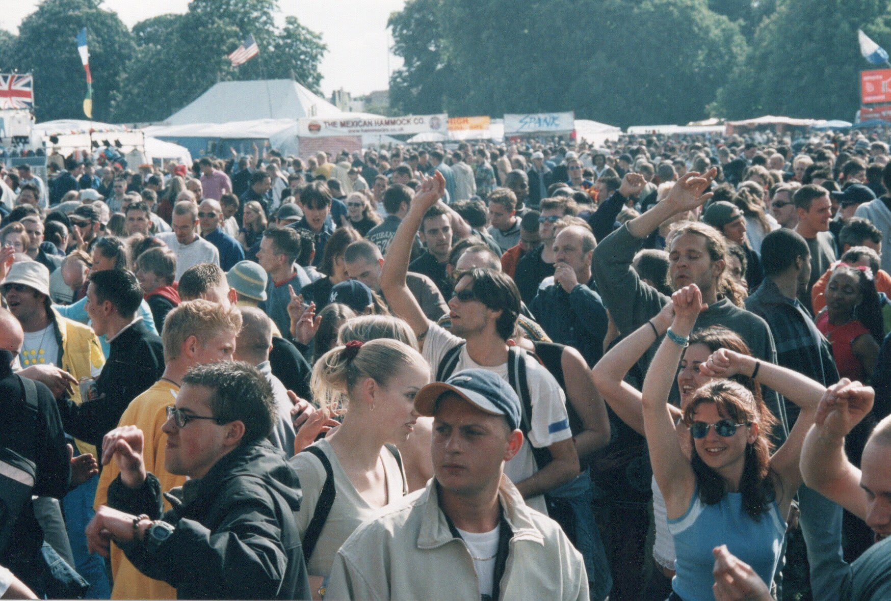 Happy crowds