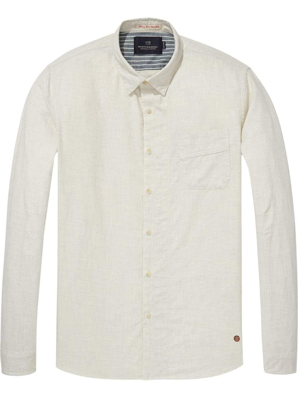 01d4b6ba9 Scotch   Soda Brushed Ecru Shirt