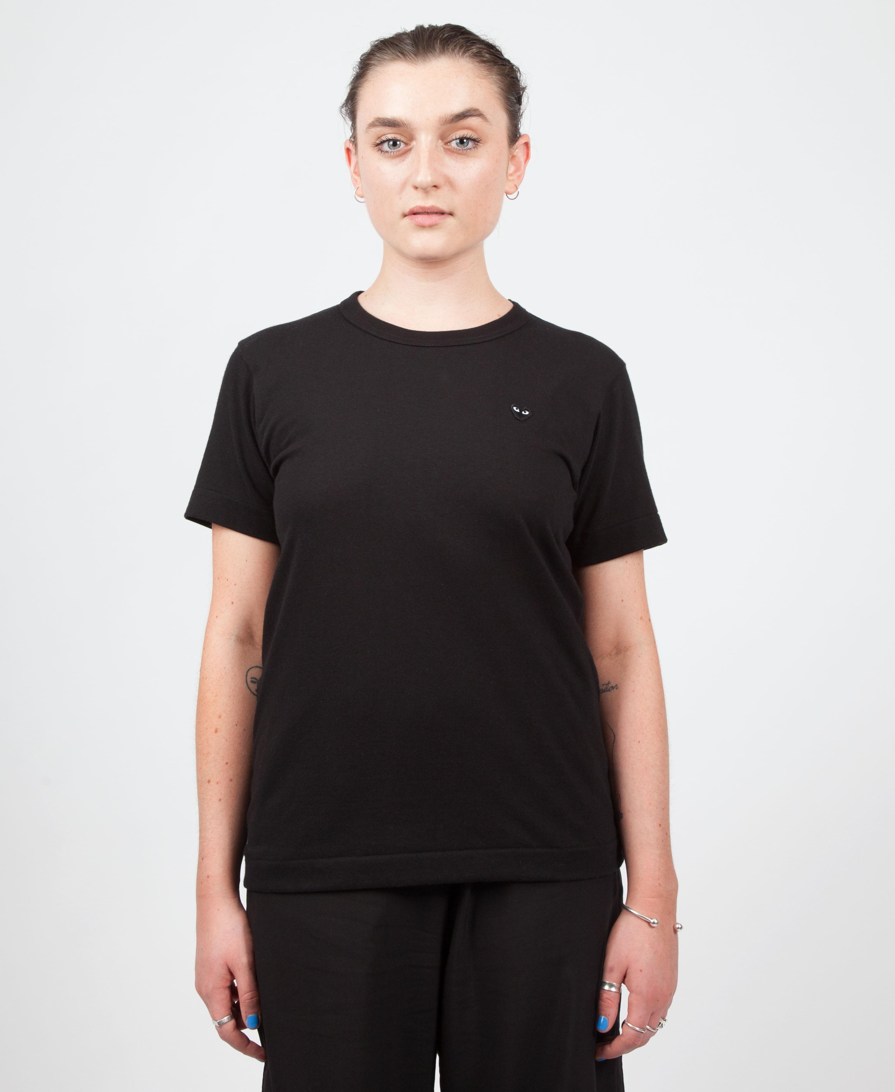 5274fd4e45c3ed Trouva  Womens Play T Shirt With Small Black Heart
