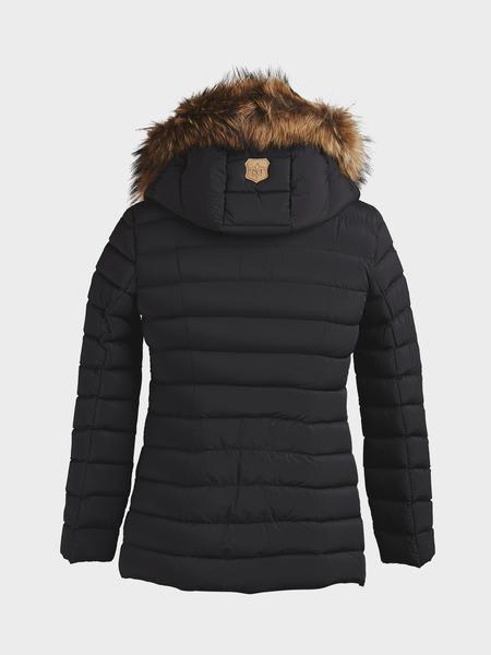 Mackage Black Kadalina Light Down With Fur Trim Jacket