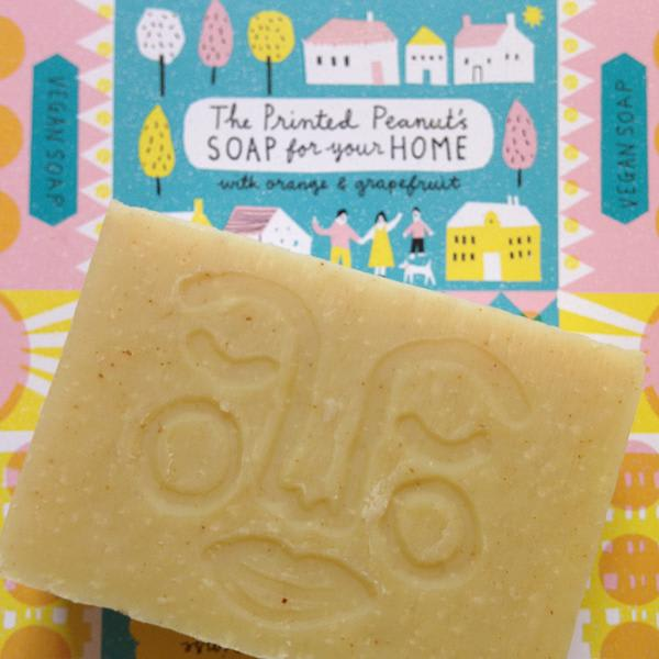 The Printed Peanut Natural Handmade Home Soap Bar