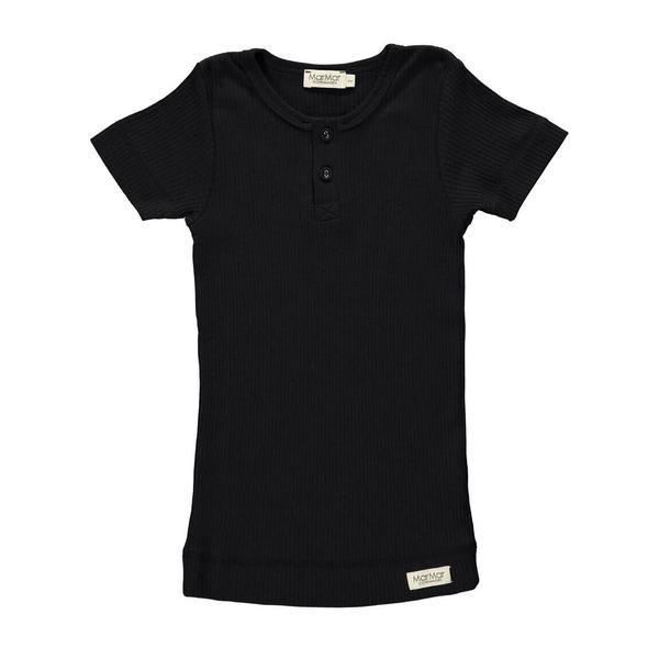 MarMar Copenhagen Black Rib Short Sleeve T Shirt