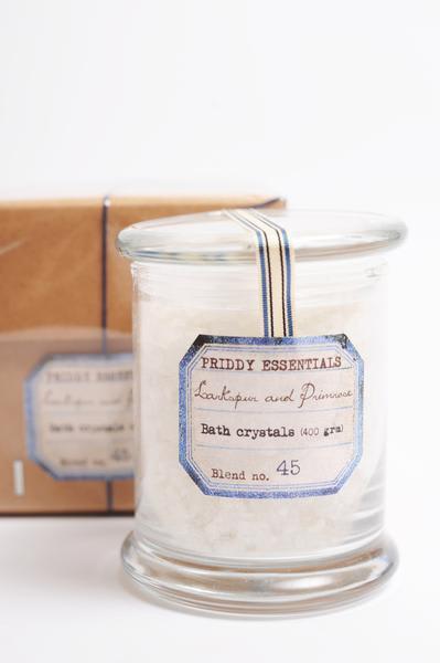 Priddy Essentials Larkspur Primrose Bath Crystals