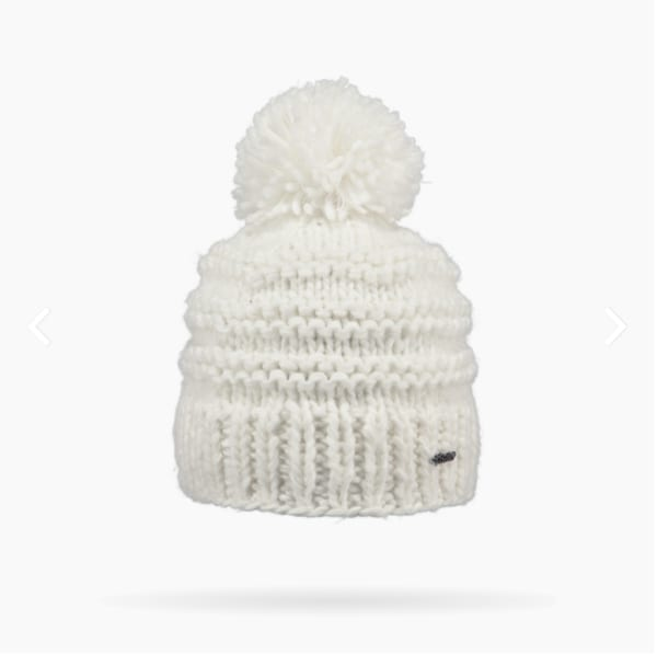 52d686123ae2e Barts White Jasmin Pom Pom Beanie Hat