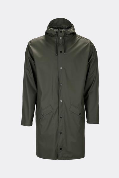 Rains Green Classic Long Jacket