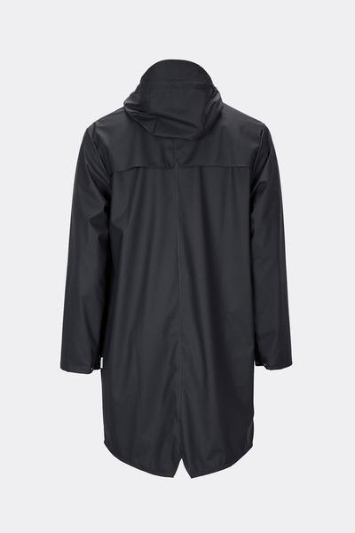 Rains Black Classic Long Jacket