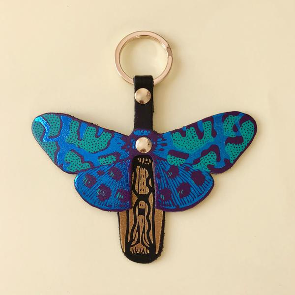 Ark Turquoise And Green Butterfly Key Fob