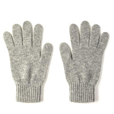 Burrows & Hare  Grey 100 Cashmere Gloves