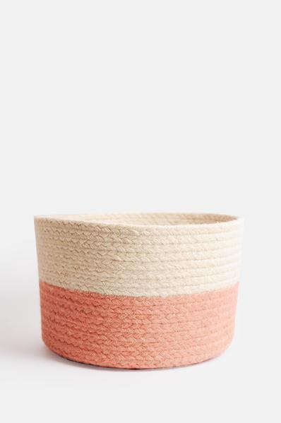 The Braided Rug Company Two Tone Basket Rose Medium