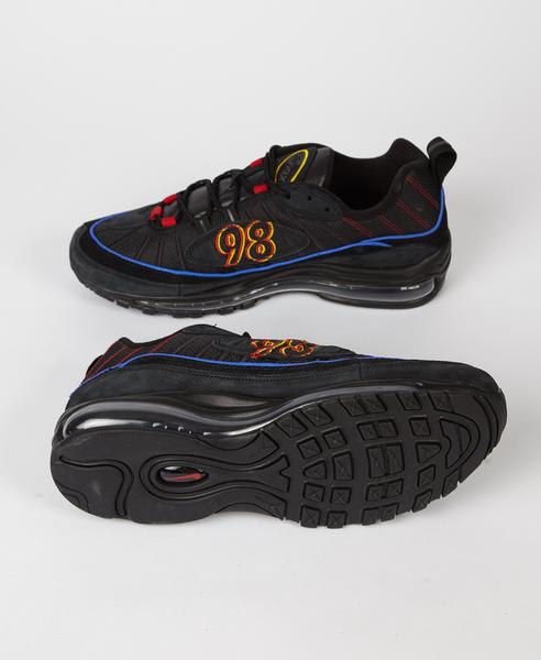Nike Black Amarillo Red Air Max 98 Trainers