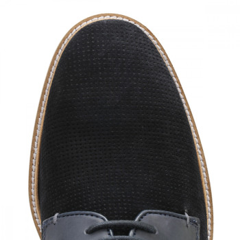 0cca2f8ca615c3 Trouva  Ted Baker Mens Dark Blue Siablo Perforated Suede Shoes