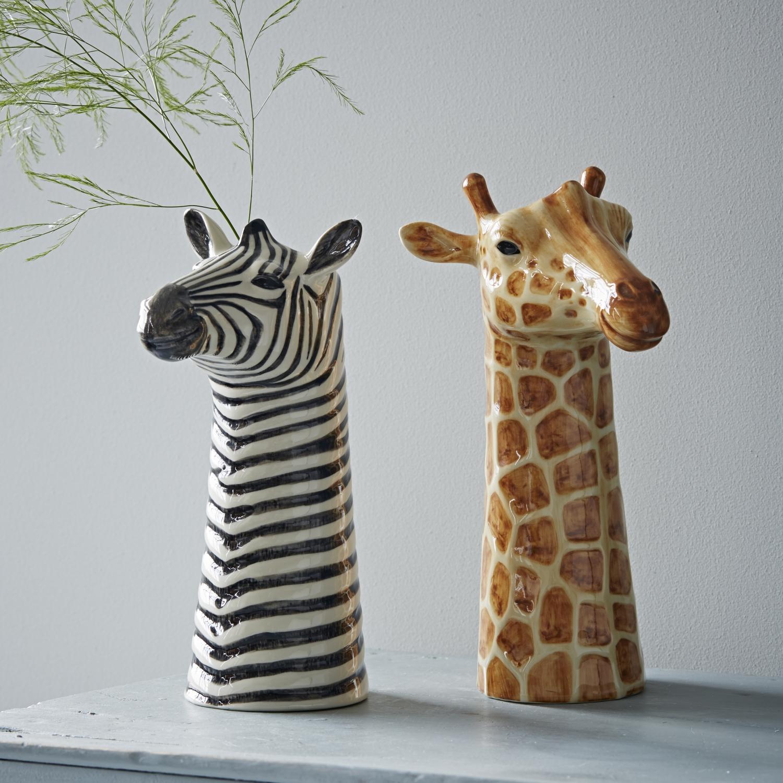 Trouva Animal Vase Zebra
